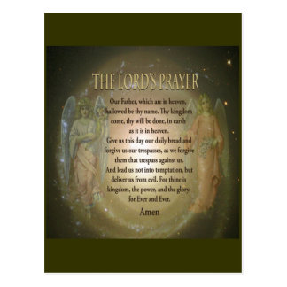 Lord's Prayer Postcard