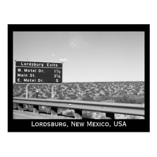 Lordsburg New Mexico Black and White Photograph Postcard