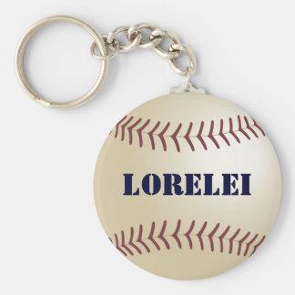 Lorelei Personalized Baseball Keychain - 369