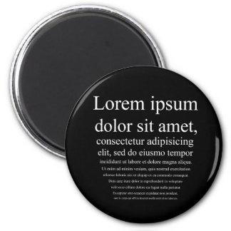 Lorem Ipsum 6 Cm Round Magnet