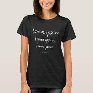 Lorem ipsum Black T-shirt Design