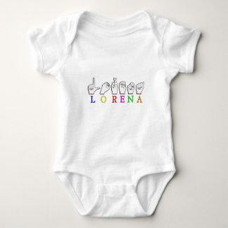 LORENA FINGERSPELLED ASL NAME SIGN BABY BODYSUIT