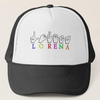 LORENA FINGERSPELLED ASL NAME SIGN TRUCKER HAT