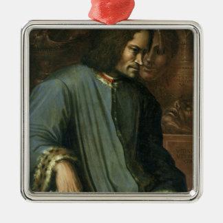 Lorenzo de Medici  'The Magnificent' Silver-Colored Square Decoration