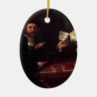 Lorenzo Lotto- Husband and Wife Christmas Tree Ornaments