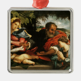 Lorenzo Lotto- The Holy Family with St. Catherine Christmas Tree Ornaments