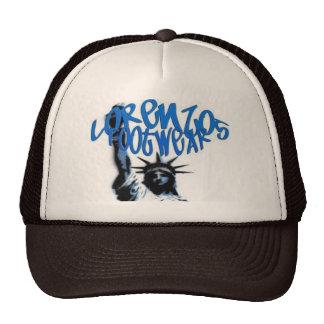 lorenzos logo 1 brown brown lid mesh hat