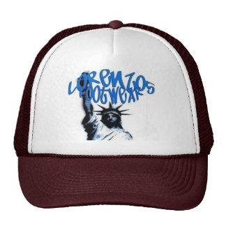 lorenzos logo 1 brown lids hat