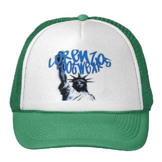 lorenzos logo 1 green lid mesh hat