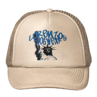 lorenzos logo 1 lite brown lid mesh hats