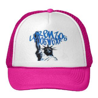 lorenzos logo 1 pink lid mesh hats
