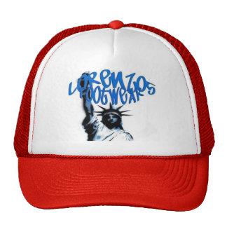 lorenzos logo 1 red lid mesh hat