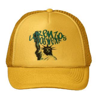 lorenzos logo 1 yello lids mesh hats