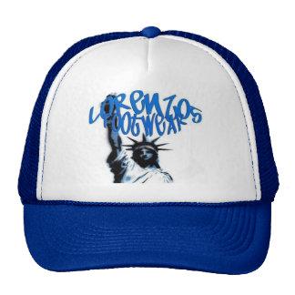 lorenzos logo 1blue lid hats