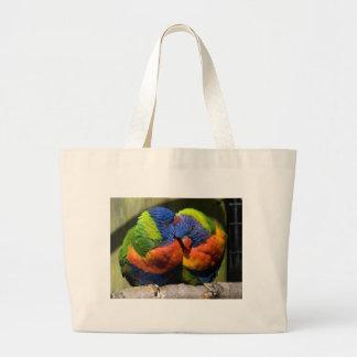 Lorikeets in Love Large Tote Bag