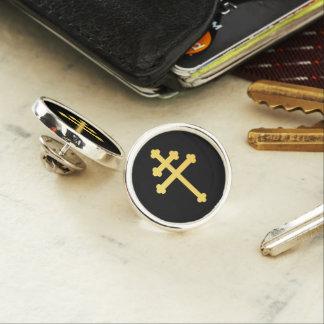 Lorraine cross lapel pin