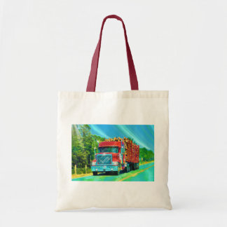 Lorry Driver Big Rig Heavy Trucker Art Budget Tote Bag