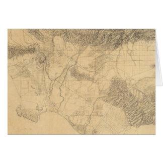 Los Angeles and San Bernardino Topography Card