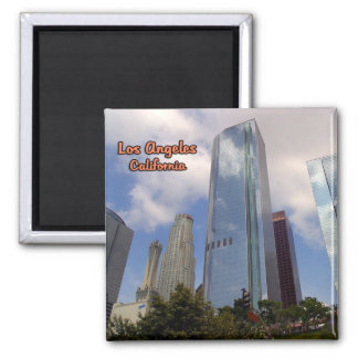 Los Angeles As Seen From Grand Central Market Square Magnet