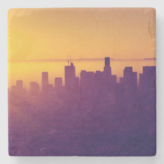 Los Angeles at sunset Stone Coaster