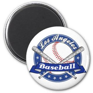 Los Angeles Baseball 6 Cm Round Magnet