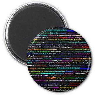 Los Angeles Black Background Magnet