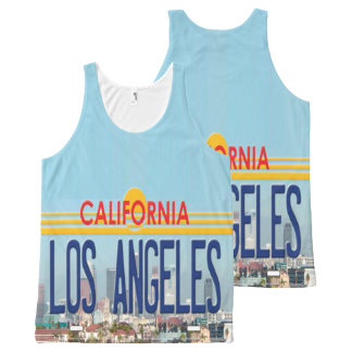 Los Angeles California All-Over Print Singlet