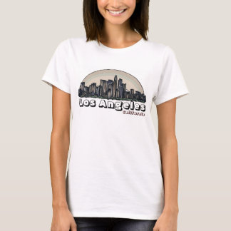 Los Angeles California artsy skyline ladies tee