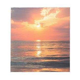 Los Angeles California beach at sunset Notepad
