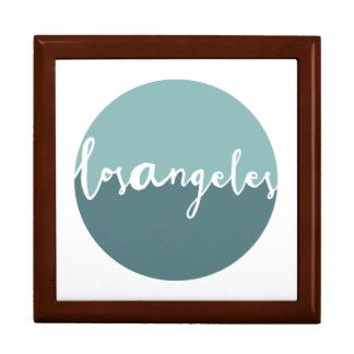 Los Angeles, California | Blue Ombre Circle Large Square Gift Box