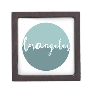 Los Angeles, California | Blue Ombre Circle Premium Gift Box