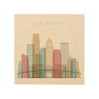 Los Angeles, California   City Skyline Wood Print