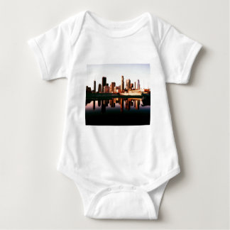 Los Angeles California City Urban Buildings Baby Bodysuit