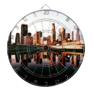 Los Angeles California City Urban Buildings Dartboard