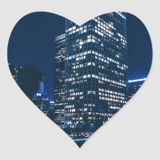 Los Angeles California City Urban Buildings Heart Sticker