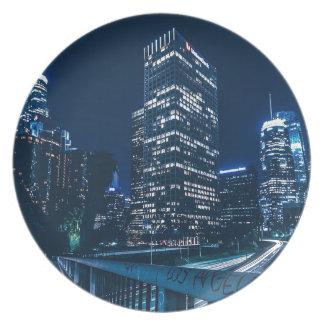 Los Angeles California City Urban Buildings Plate