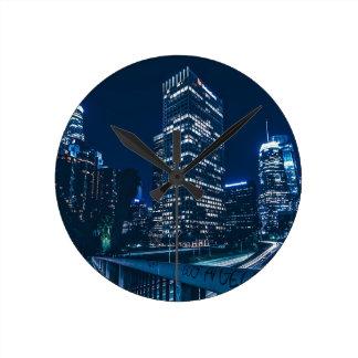 Los Angeles California City Urban Buildings Round Clock