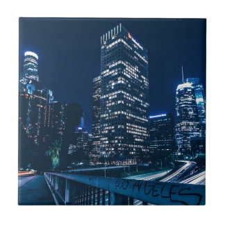 Los Angeles California City Urban Buildings Tile
