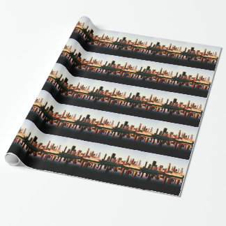 Los Angeles California City Urban Buildings Wrapping Paper