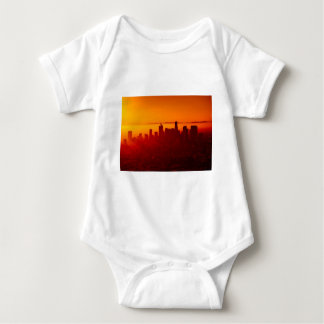 Los Angeles California City Urban Skyline Baby Bodysuit