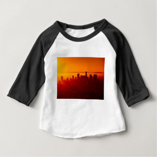 Los Angeles California City Urban Skyline Baby T-Shirt