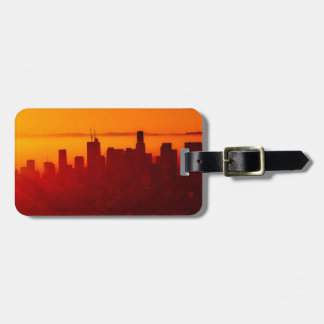 Los Angeles California City Urban Skyline Luggage Tag