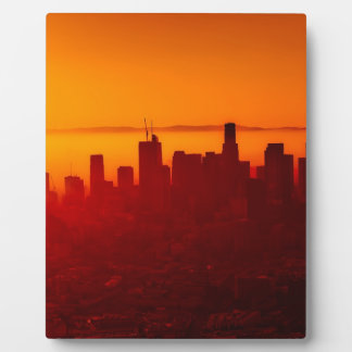 Los Angeles California City Urban Skyline Plaque