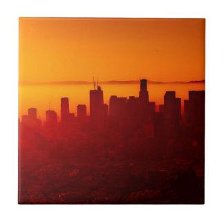 Los Angeles California City Urban Skyline Tile