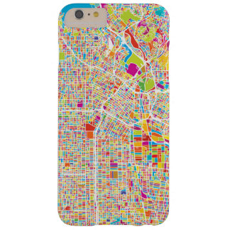 Los Angeles, California | Colorful Map Barely There iPhone 6 Plus Case