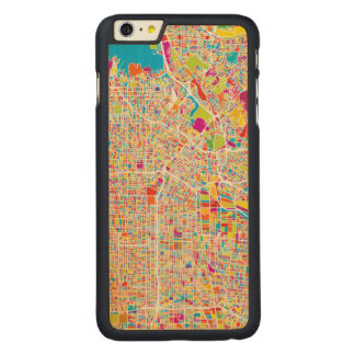 Los Angeles, California | Colorful Map Carved® Maple iPhone 6 Plus Case