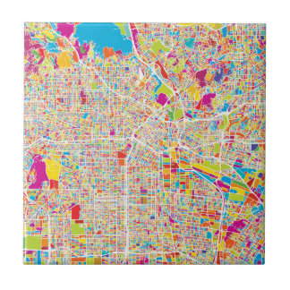 Los Angeles, California | Colorful Map Ceramic Tile