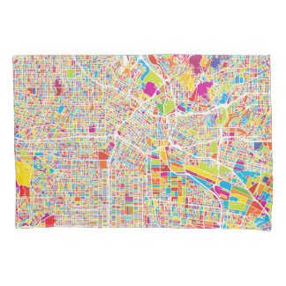 Los Angeles, California | Colorful Map Pillowcase