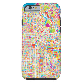 Los Angeles, California | Colorful Map Tough iPhone 6 Case