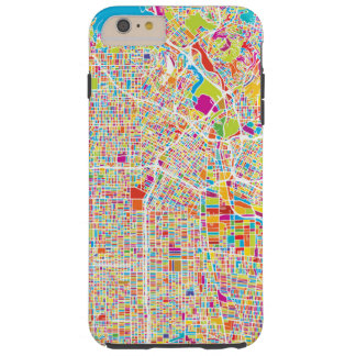 Los Angeles, California | Colorful Map Tough iPhone 6 Plus Case